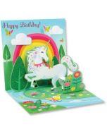 3D Pop-Up Card - Unicorn Birthday