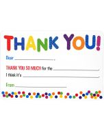 Boxed Thank You Cards - Bright Fill-In