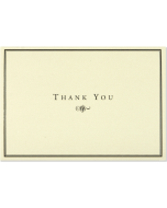 Boxed Thank You Cards - Black & Cream