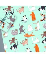 Folded Wrapping Paper - Yoga CATS