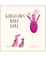 BABY Girl - 'Gorgeous' pink dog, cat & bunny