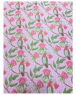Folded Wrapping Paper - Birds & Roses