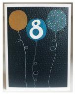 AGE 8 Card - Blue Balloons