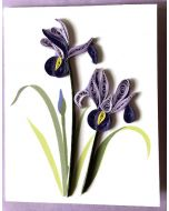 Purple IRIS gift card - Paper Quilling