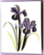 Mini card - Quilling - Irises