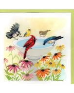 Quilling Card - Bird Bath