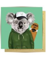 Birthday - Koala Skateboarder