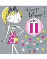 AGE 11 Card - Whoop Whoop!