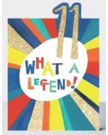 AGE 11 Card -'What a Legend