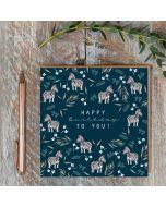 Birthday Card - Zebras