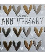 Our Anniversary - Gold & Silver hearts
