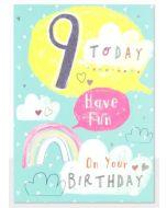 Age 9 - 'Have fun' rainbow