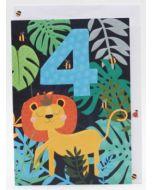 Age 4 - Lion in leafy jungle