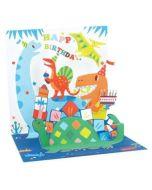 3D Pop-Up Card - Dinosaurs
