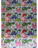 Folded Wrapping Paper - Cute Dinosaurs