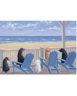 Boxed Notecards - Dogs on Deck Chairs