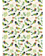 Folded Wrapping Paper - Desert Finches