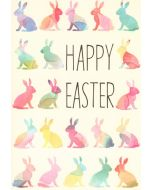 Easter Card - Pastel Bunnies