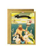 Birthday Card - Neptune & Mermaids