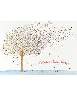 Christmas Cards (Box of 20) - Festive Tree of Hearts