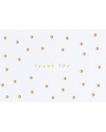 Boxed Thank You Cards - Gold Dots