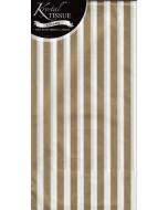 Tissue Paper - Gold & White Stripes (3 sheets)