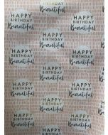 Folded Wrapping Paper - Happy Birthday Beautiful