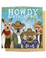 Howdy Birthday Boy - Aussie animals