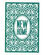 NEW HOME Card - Ornate Green