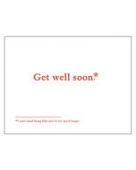 'Get Well Soon*' Card