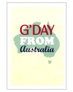 'G'day from Australia' Card