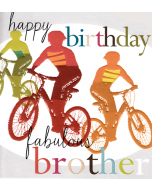'Happy Birthday Fabulous Brother' Card