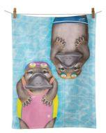 Tea Towel - Aussie Aussie Aussie (Swimming)