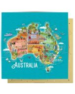 Card - Australian Map & Icons