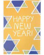 Jewish New Year Card - Stars on Yellow