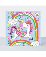 Jigsaw Card - Unicorn & Rainbow