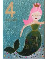 AGE 4 Card - Mermaid