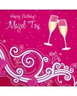 Birthday - Jewish Mazel Tov 'champagne' greeting