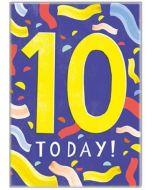 AGE 10 Card - Bold Yellow '10'