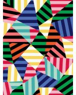 Folded Wrapping Paper - Geo Stripes