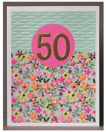 AGE 50 Card - Bright Floral