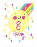 AGE 8 - Happy sunshine, '8 today'