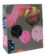 Gift Bag (Medium)-  'With Love' Balloons