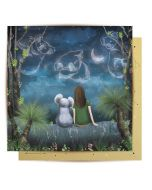 Greeting Card - Regeneration (Koala & Girl Under Stars)