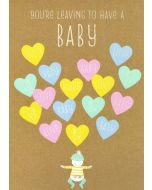 BIG Card - Leaving to Have a BABY (Hearts)