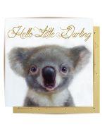 Greeting Card - Hello Little Darling (Koala)