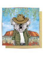 Greeting Card - Cowboy Koala