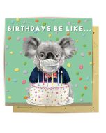 Birthday Card - Koala with Mask