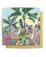 Greeting Card - Koala & Native Birds