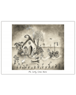Greeting Card - Mr Curly Comes Home by Michael Leunig